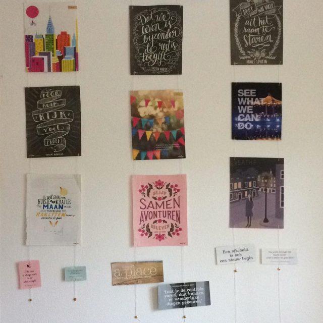 De keukenmuur versierd met quotes amp paginas uit flowmagazine creatiefhellip